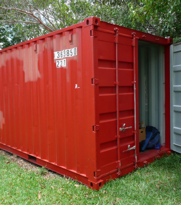 Shipping container removal, shipping container disposal, shippin