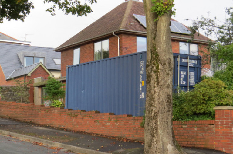 Container Disposal Buying a home with a shipping container in the garden